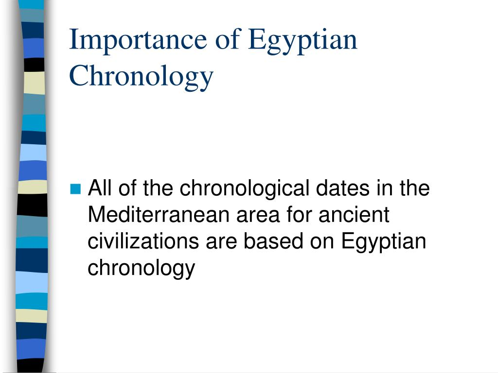 Importance of Egyptian Chronology