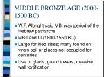 middle bronze age 2000 1500 bc