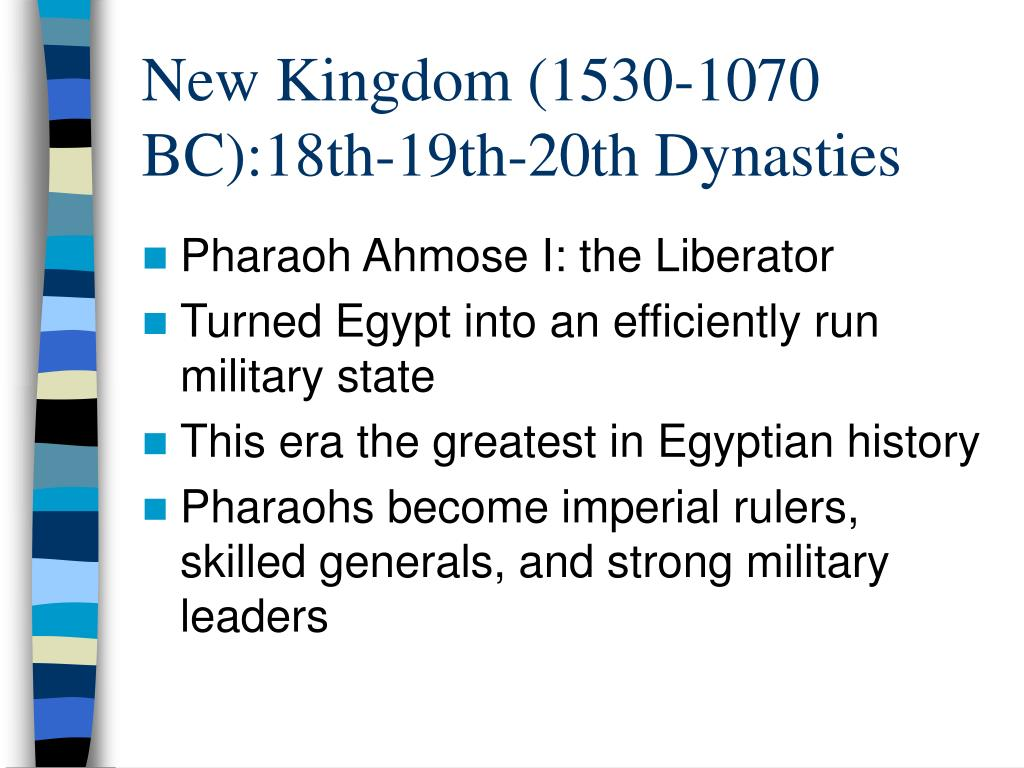 New Kingdom (1530-1070 BC):18th-19th-20th Dynasties