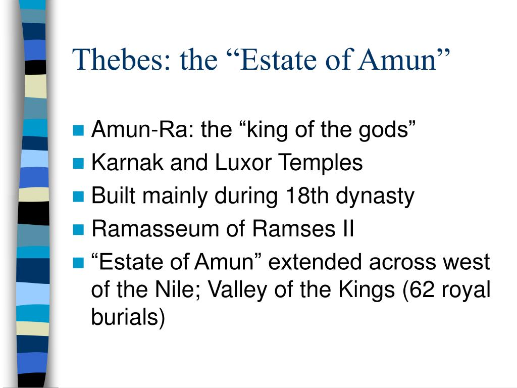 "Thebes: the ""Estate of Amun"""