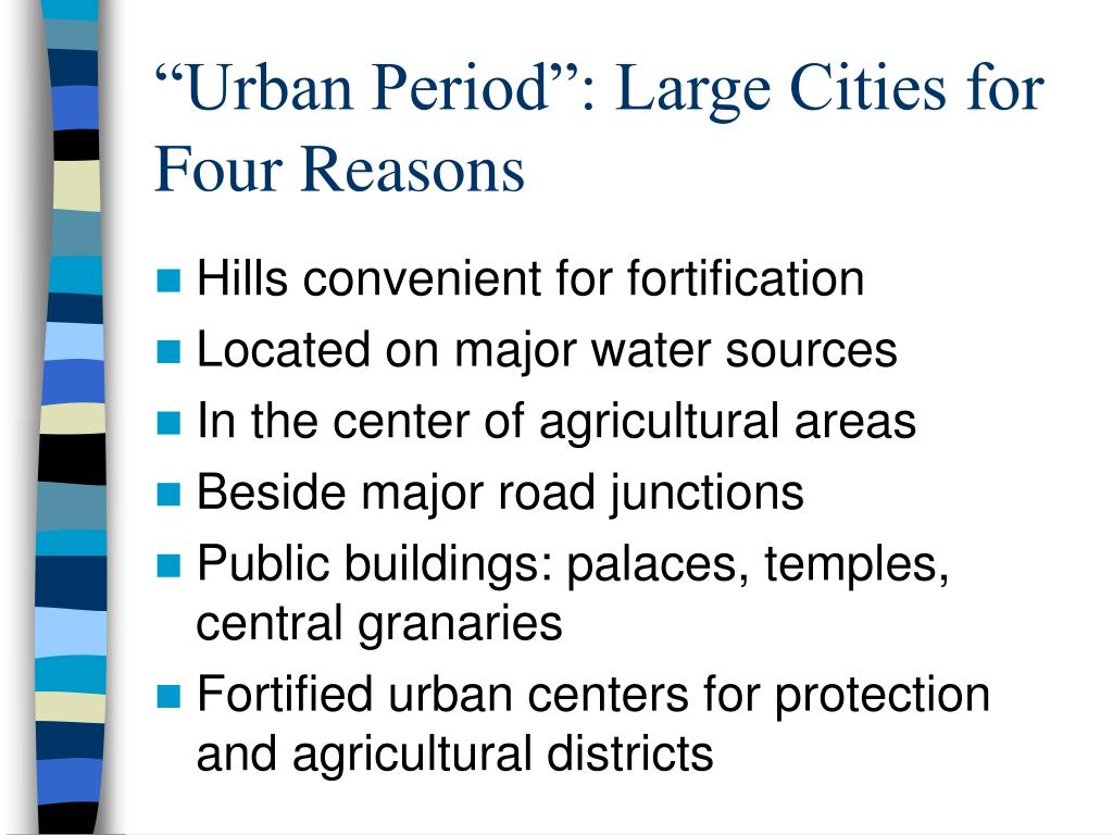 """Urban Period"": Large Cities for Four Reasons"