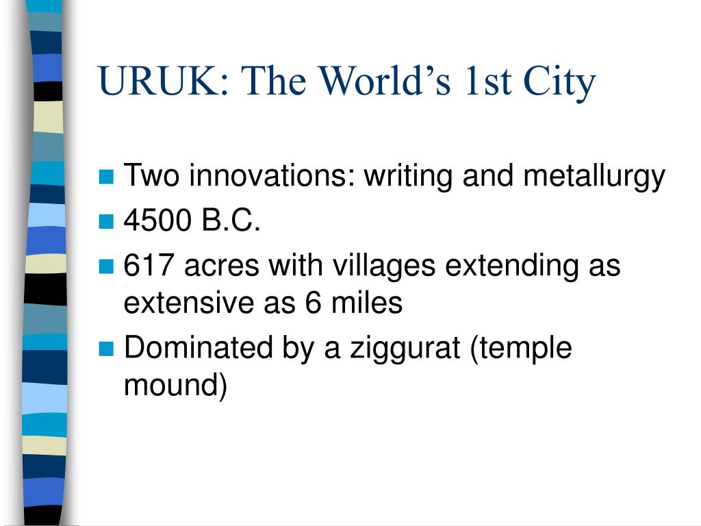 URUK: The World's 1st City