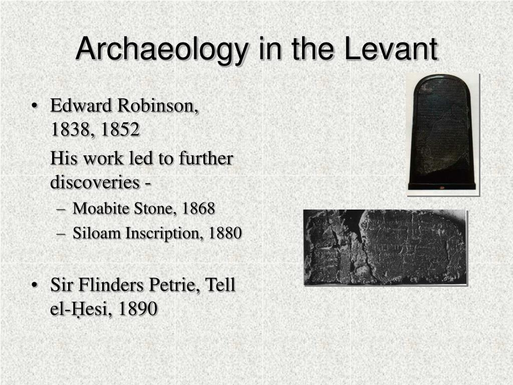 Archaeology in the Levant