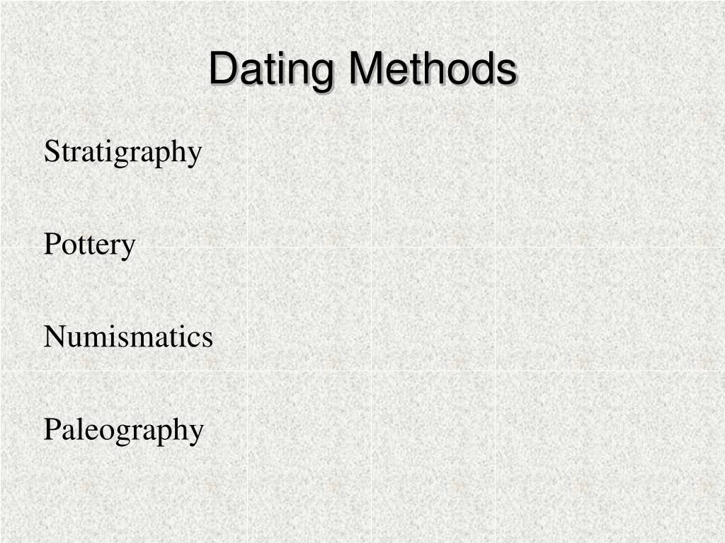 Dating Methods