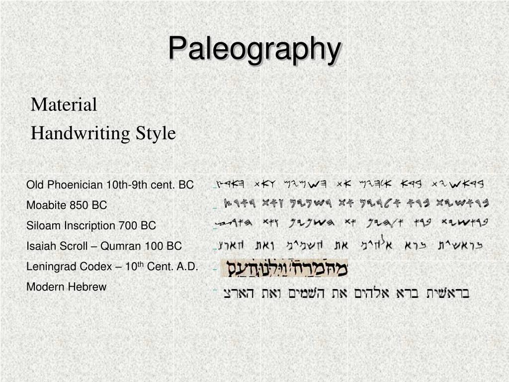 Paleography