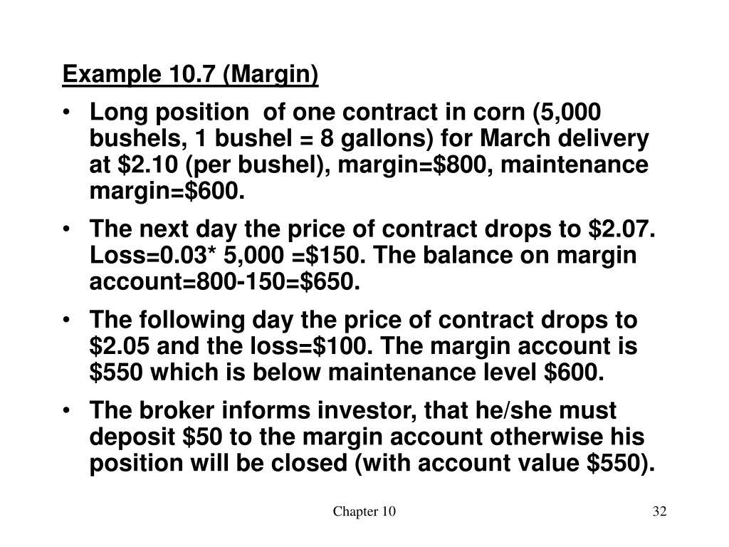Example 10.7 (Margin)