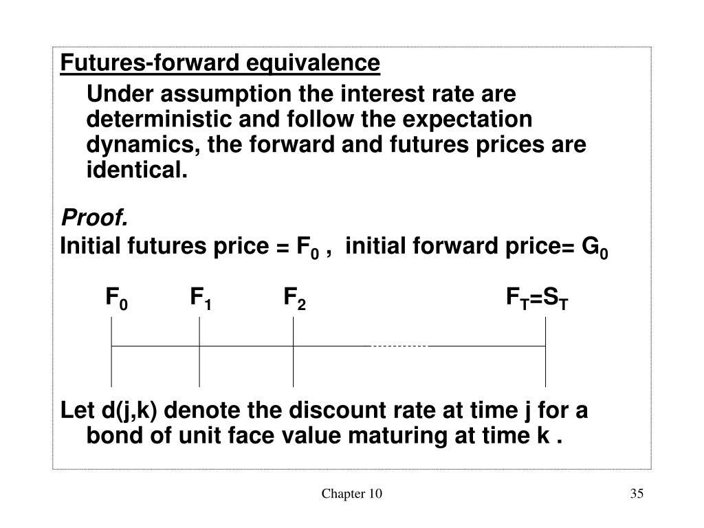 Futures-forward equivalence