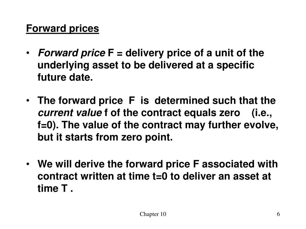Forward prices
