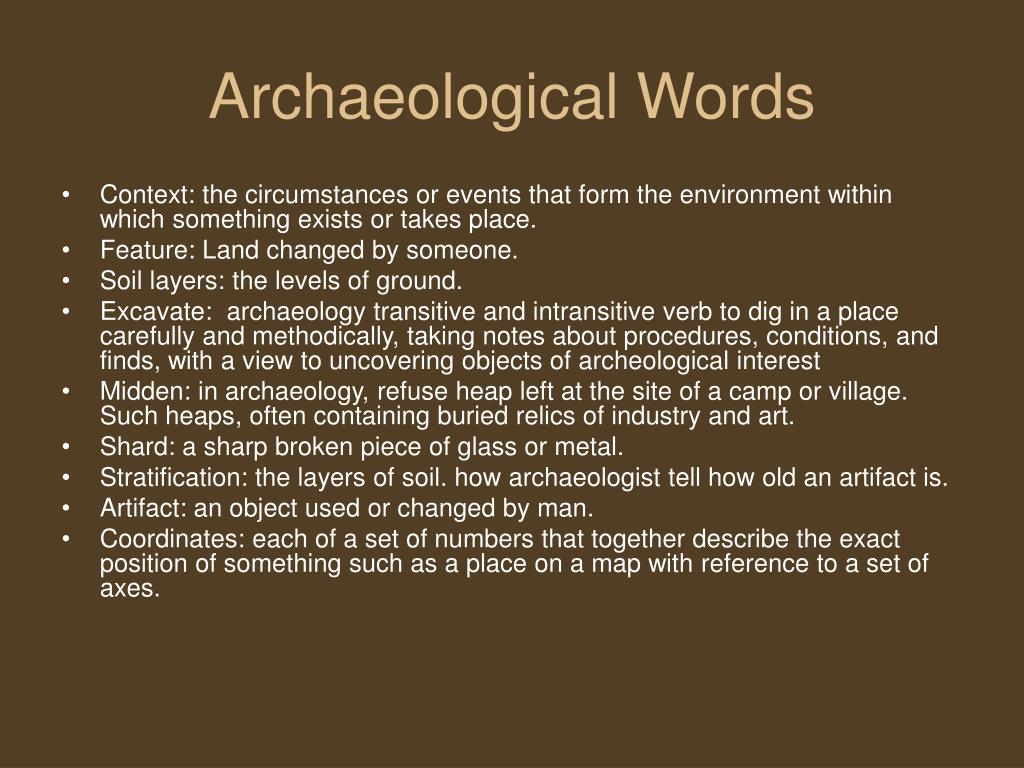 Archaeological Words