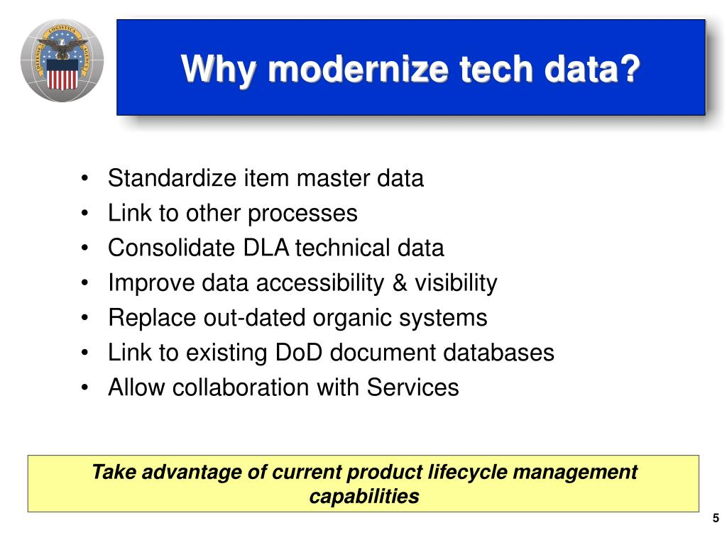 Why modernize tech data?