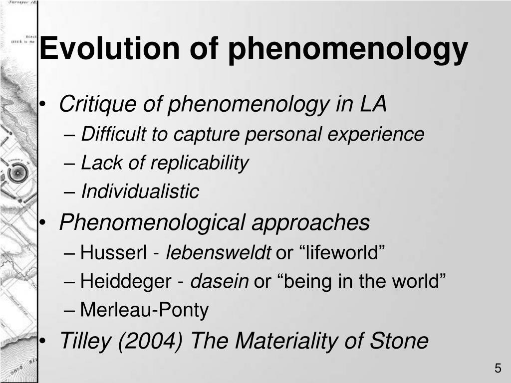 Evolution of phenomenology
