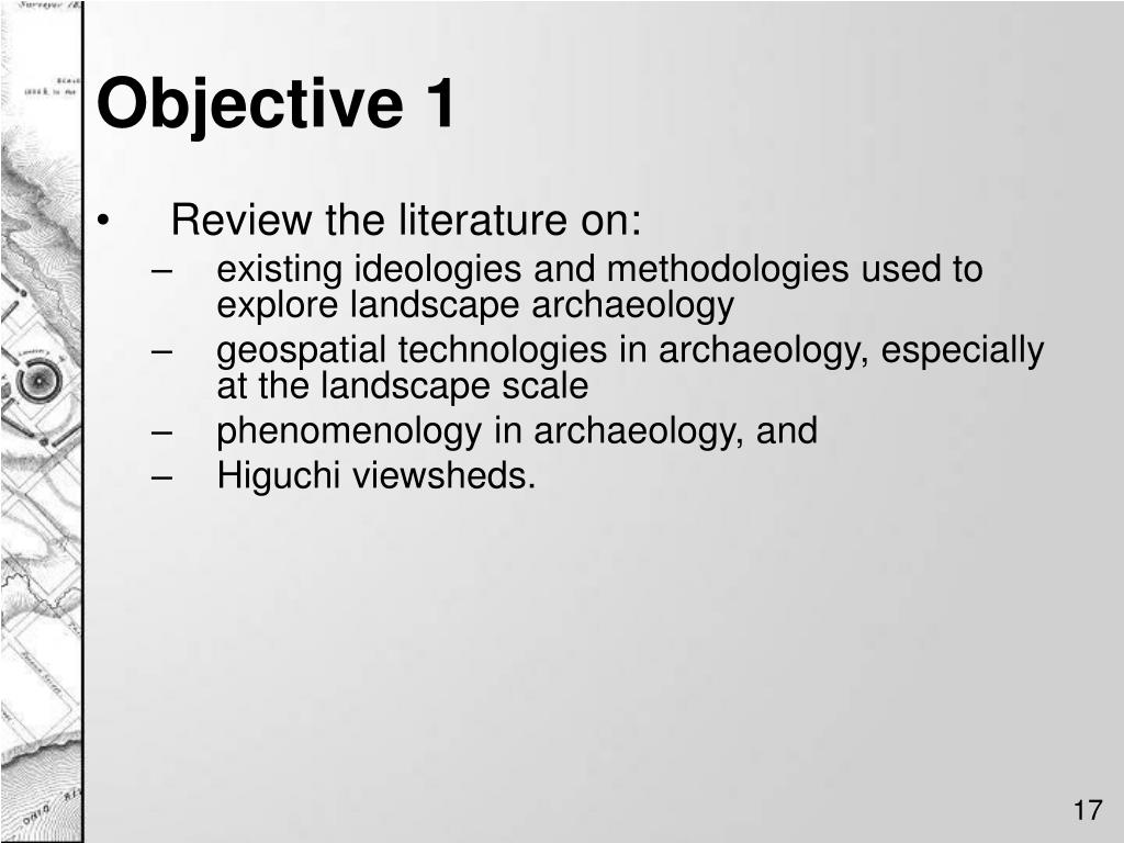 Objective 1