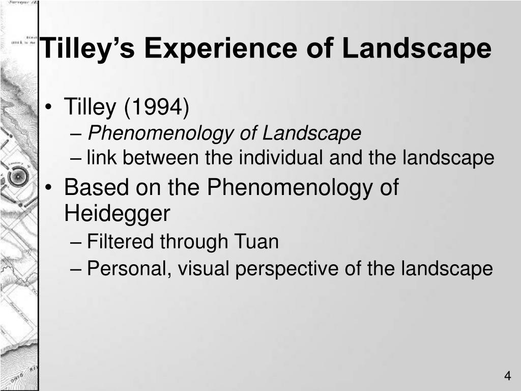 Tilley's Experience of Landscape