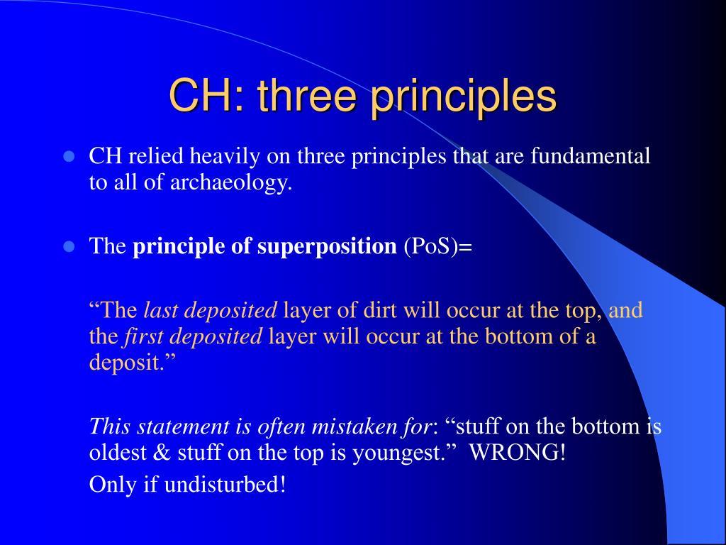 CH: three principles