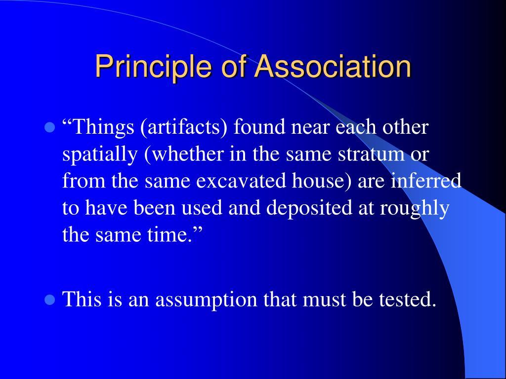 Principle of Association
