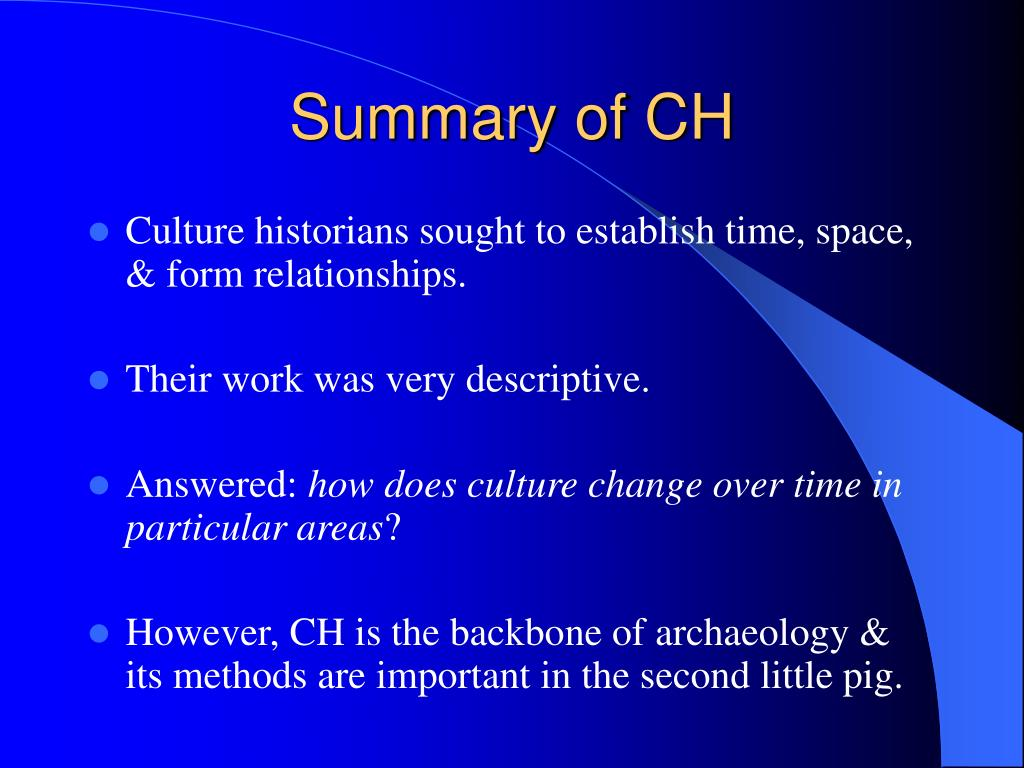 Summary of CH