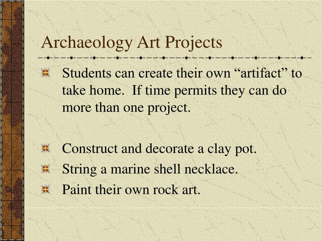 Archaeology Art Projects
