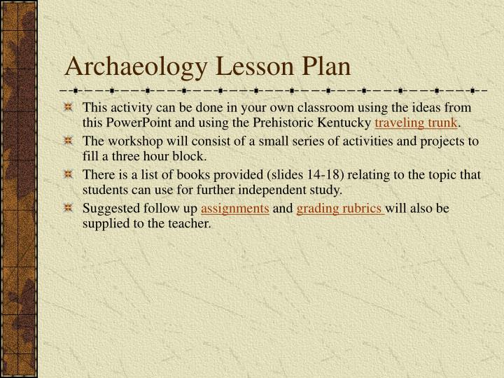 Archaeology lesson plan2