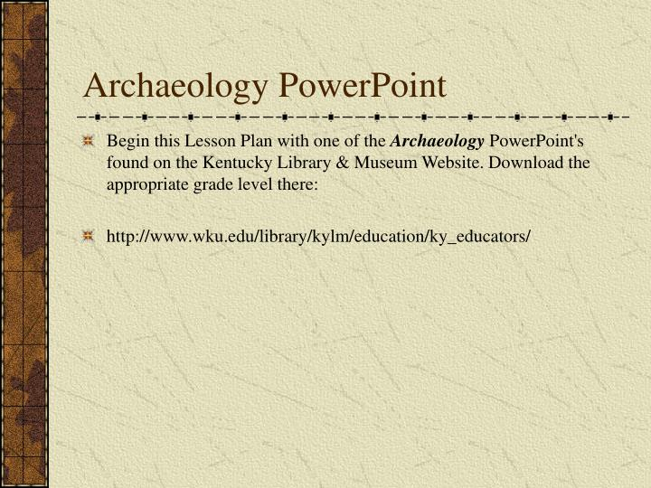Archaeology powerpoint
