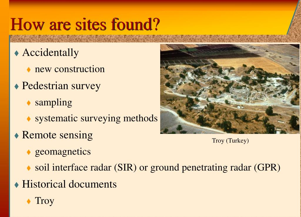 How are sites found?