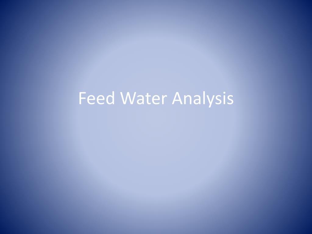 Feed Water Analysis