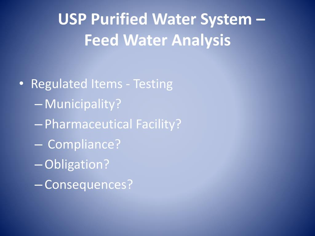 USP Purified Water System –