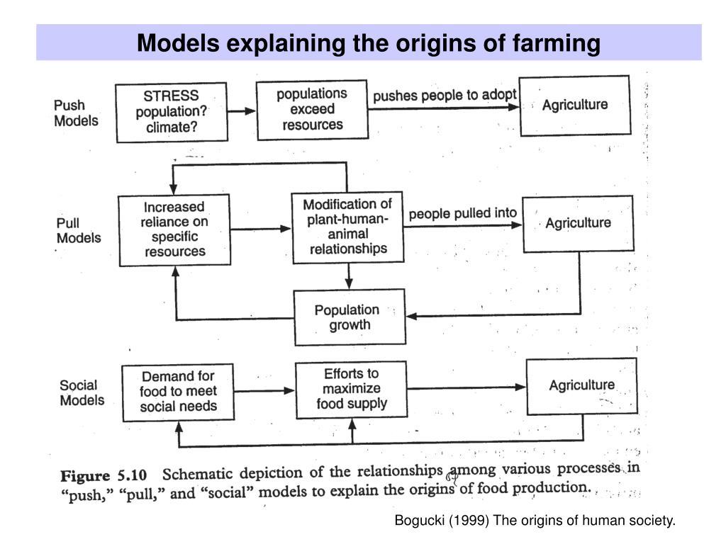 Models explaining the origins of farming