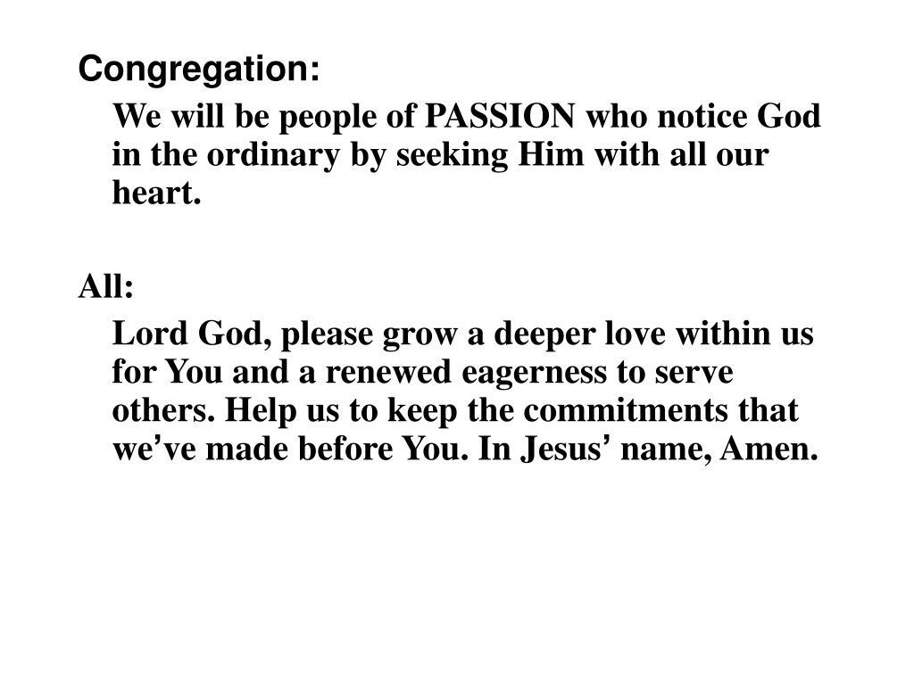 Congregation: