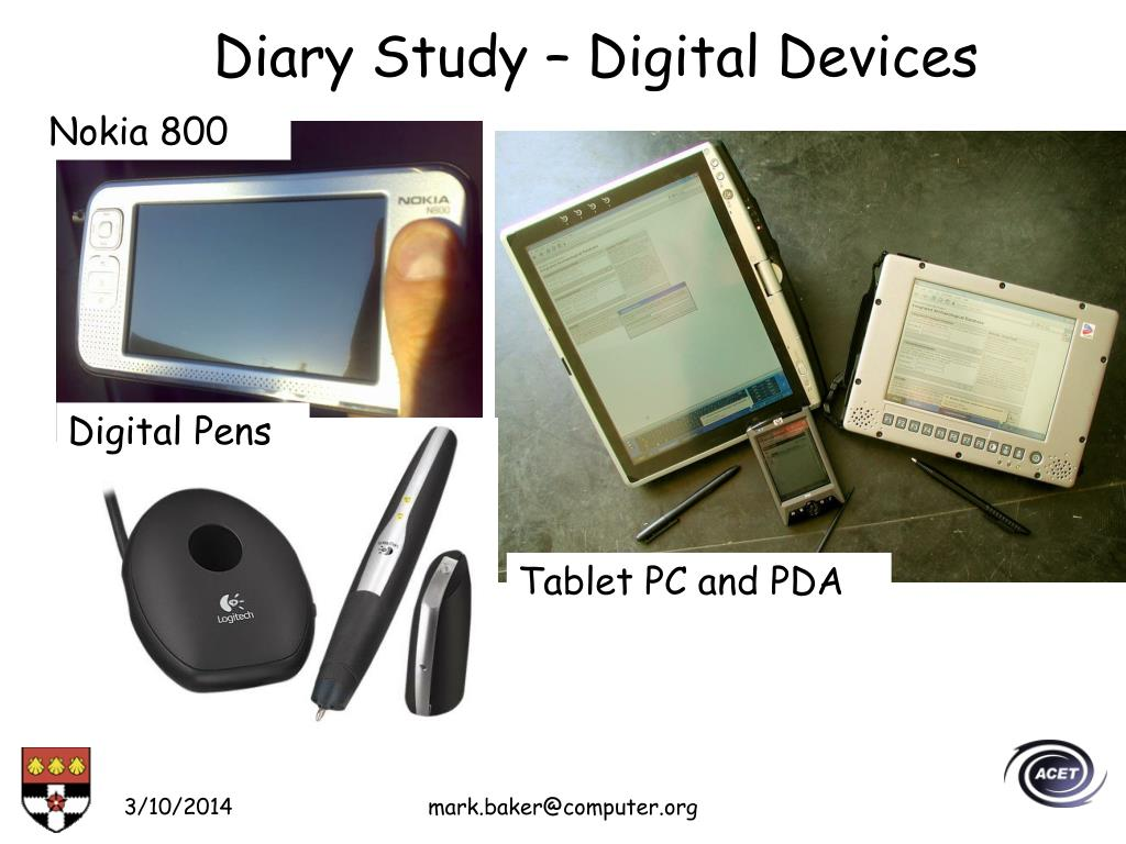 Diary Study – Digital Devices