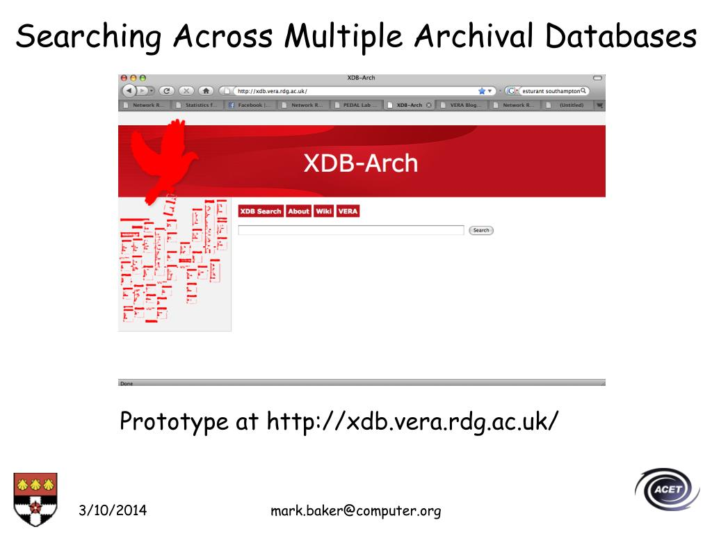 Searching Across Multiple Archival Databases