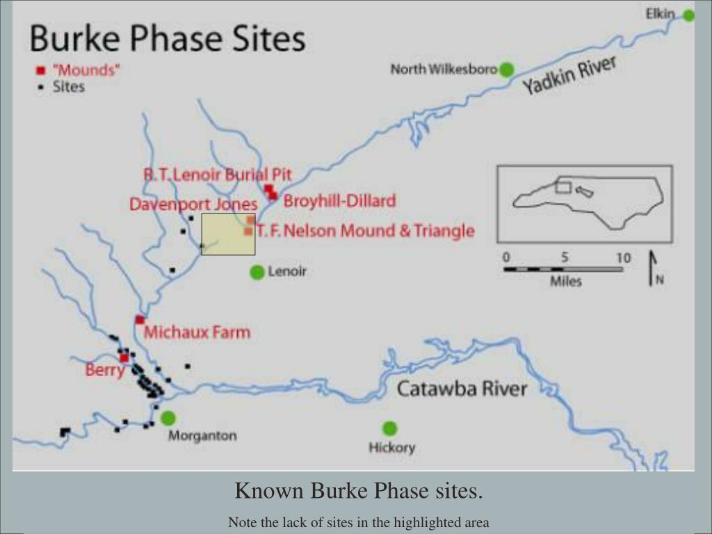 Known Burke Phase sites.