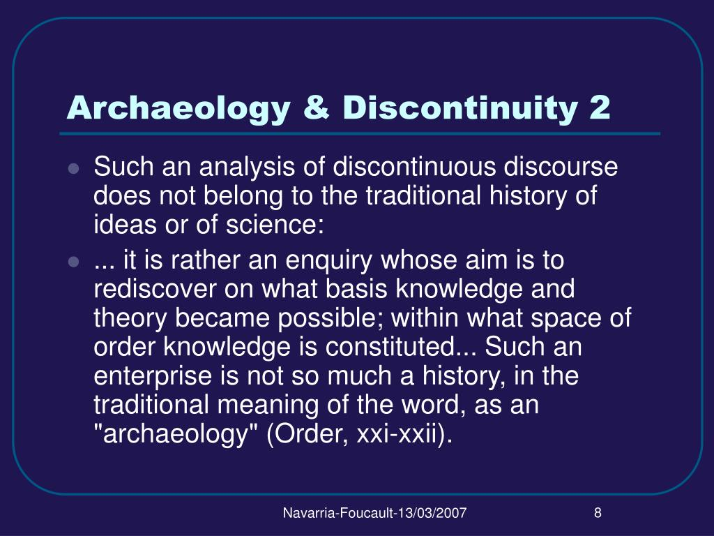 Archaeology & Discontinuity 2
