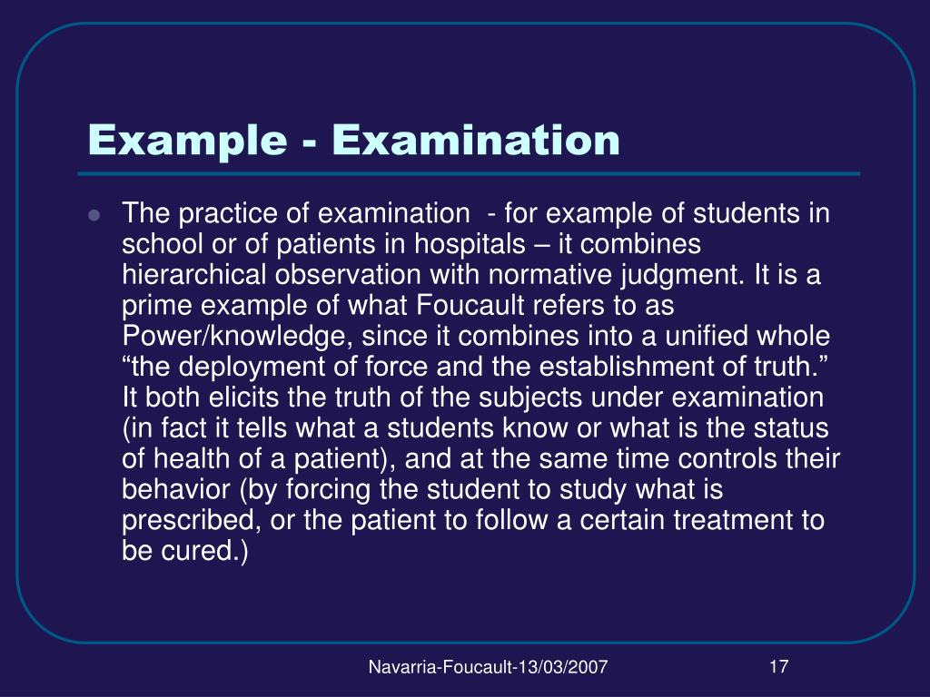 Example - Examination