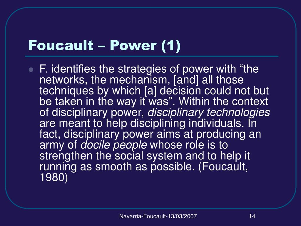 Foucault – Power (1)