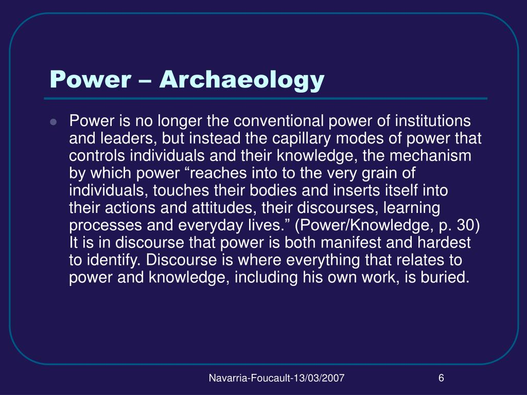 Power – Archaeology