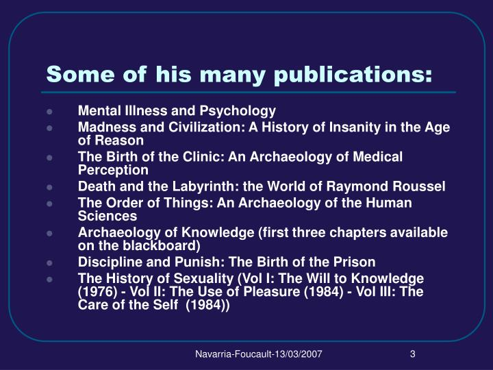 Some of his many publications