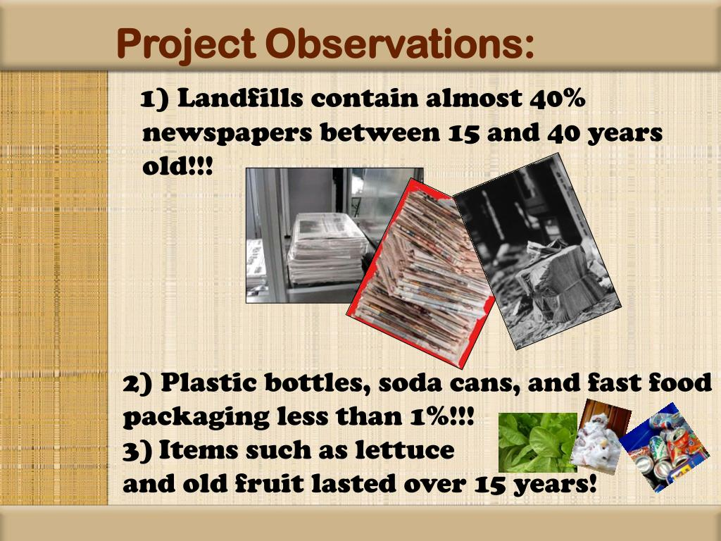 Project Observations: