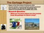 the garbage project