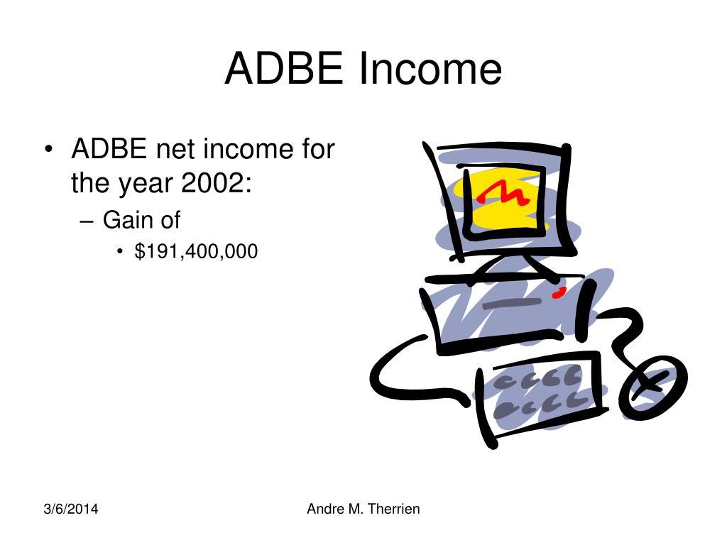 ADBE Income