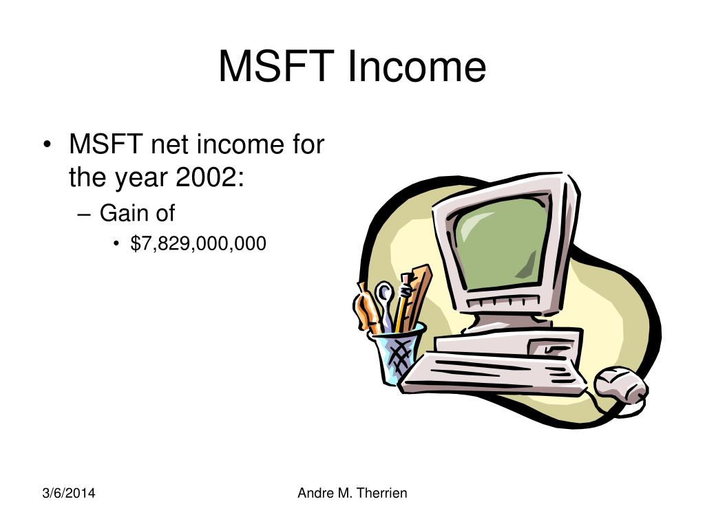MSFT Income