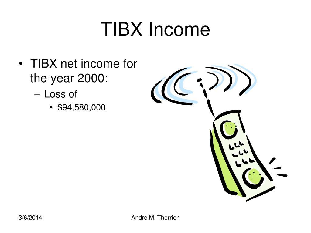 TIBX Income