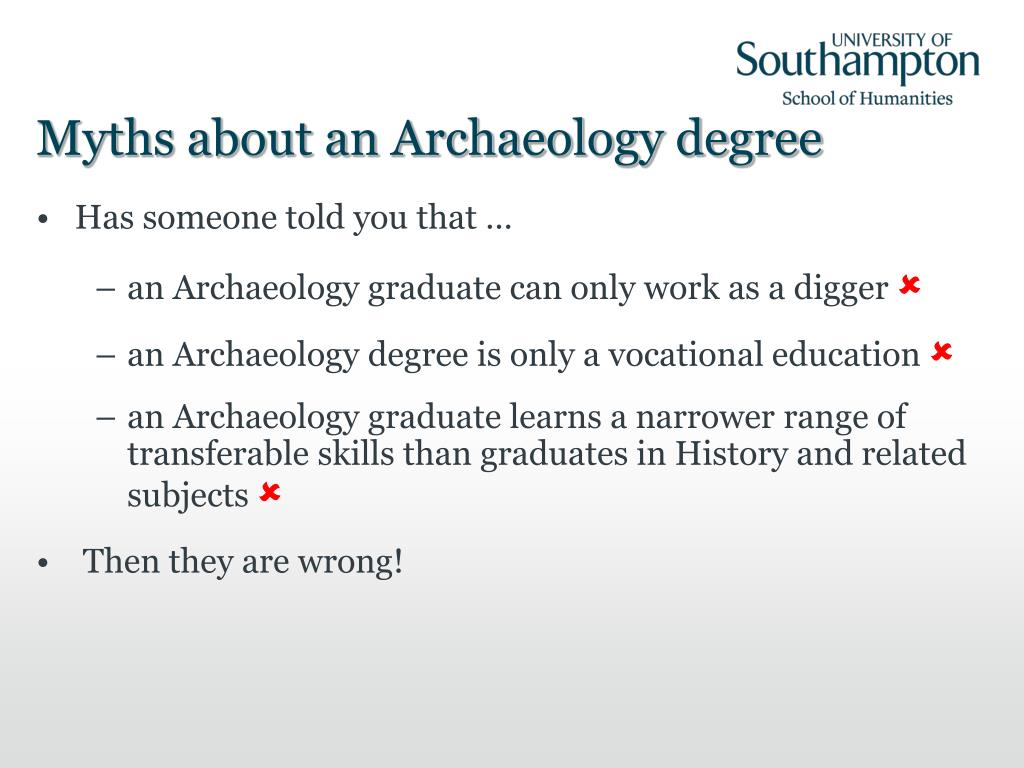 Myths about an Archaeology degree