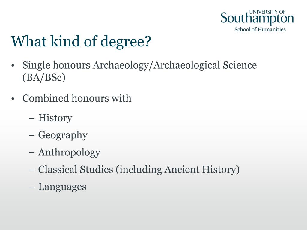 What kind of degree?