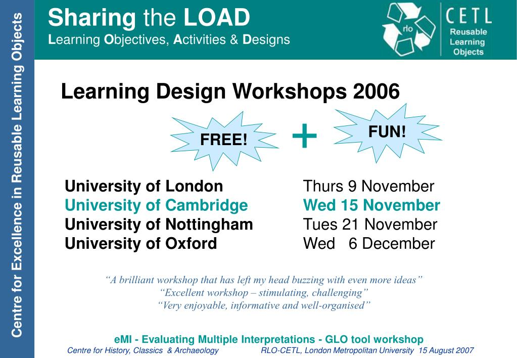 Learning Design Workshops 2006
