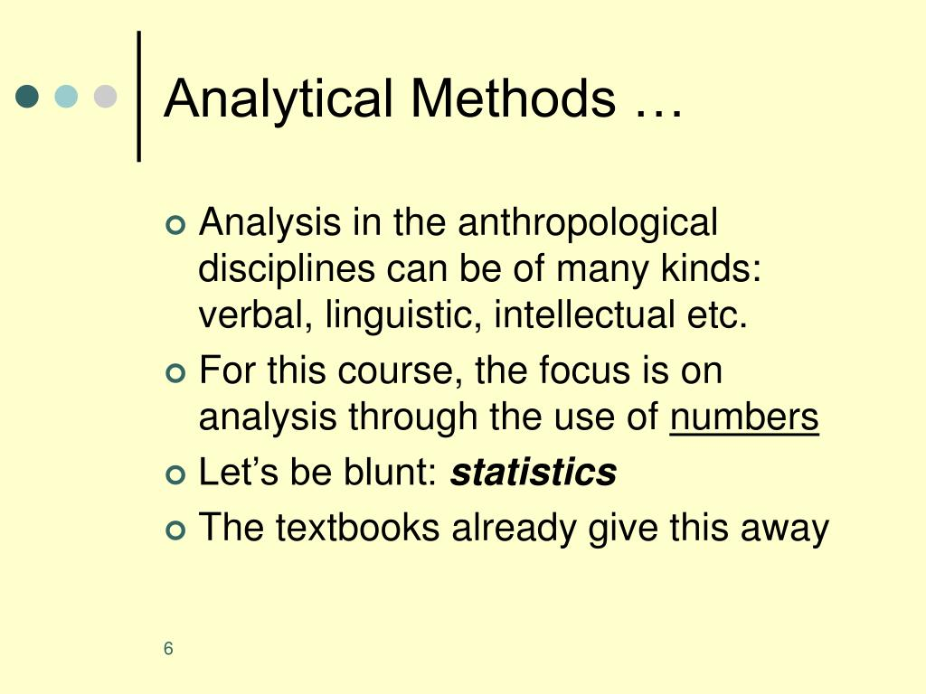 Analytical Methods …