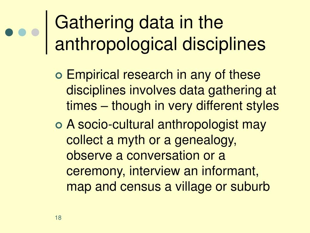 Gathering data in the anthropological disciplines