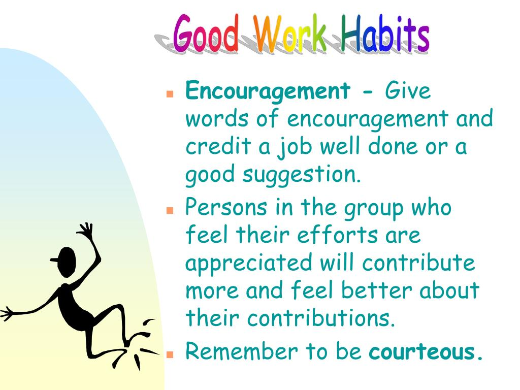 Good Work Habits