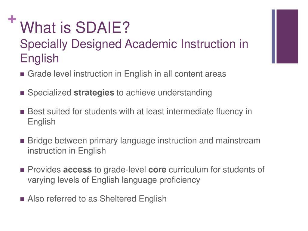 What is SDAIE?