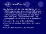how to invite people