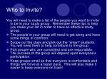 who to invite